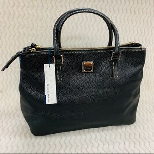 NWT Dooney & Bourke Willa Pebble Leather Satchel